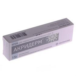 Акридерм крем для наружного применения