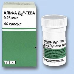 Капсулы Альфа-Д3 Тева 0,25 мкг