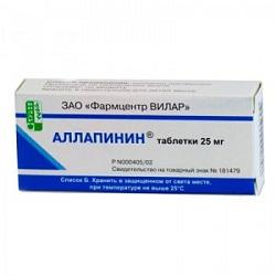 Таблетки Аллапинин 25 мг