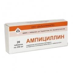 Таблетки Ампициллин 250 мг