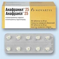 Таблетки Анафранил 25 мг