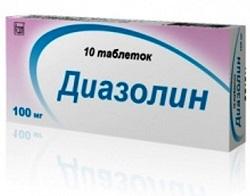 Таблетки Диазолин от аллергии