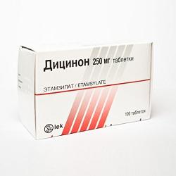 Таблетки Дицинон 250 мг
