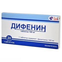 Таблетки Дифенин 100 мг