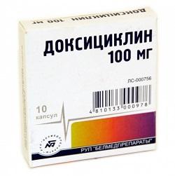 Капсулы Доксициклин 100 мг