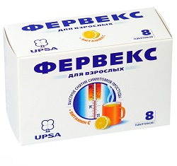 Порошок для приготовления раствора для приема внутрь Фервекс