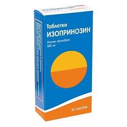 Таблетки Изопринозин 500 мг