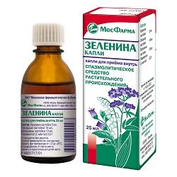Седативное средство Капли Зеленина