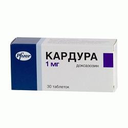 Таблетки Кардура 1 мг