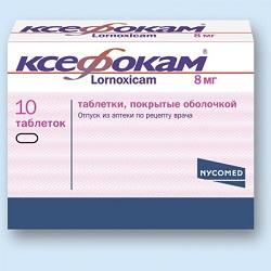 Ксефокам в таблетках 8 мг