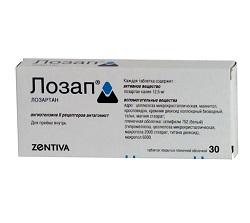 Лозап в таблетках 12,5 мг