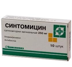 Суппозитории вагинальные Синтомицин
