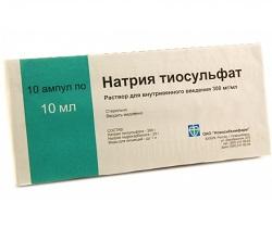 Раствор для внутривенного введения Тиосульфат натрия